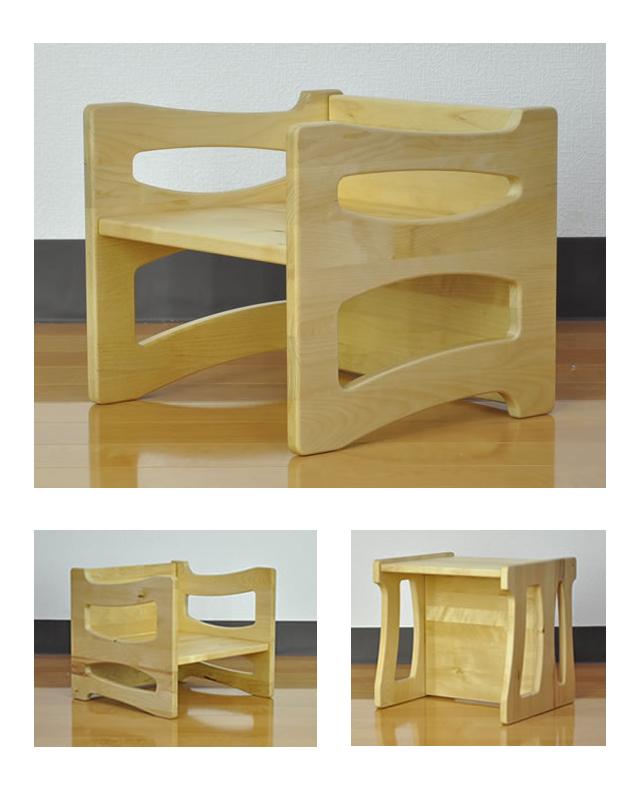 木製4WAYキッズチェアー 2