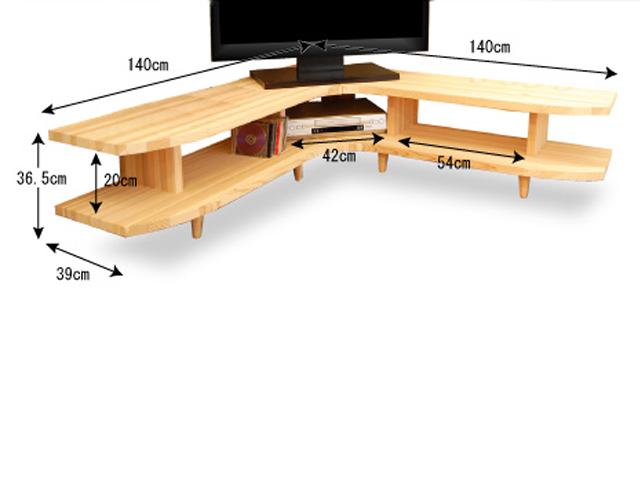 国産杉コーナーテレビボードサイズ