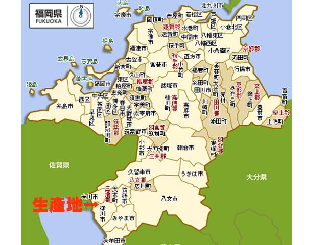 生産地地図 柳川