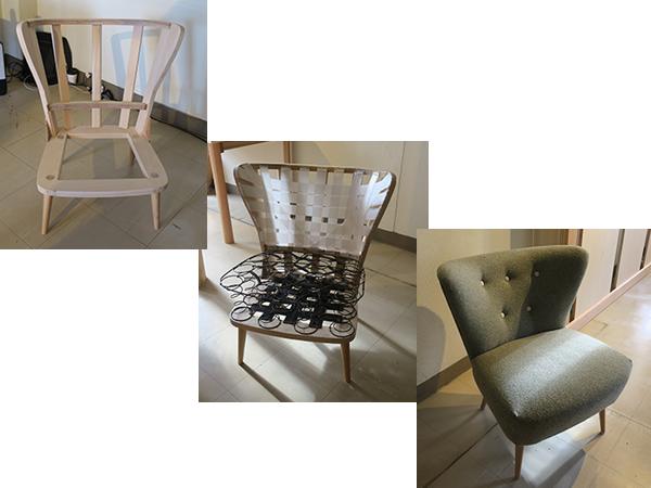 椅子の内部構造