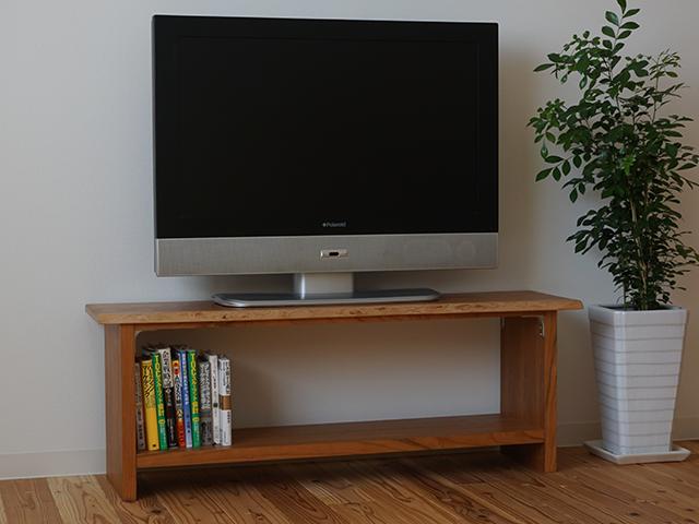 一枚板耳付きのテレビ台(ブラックチェリー)イメージ6
