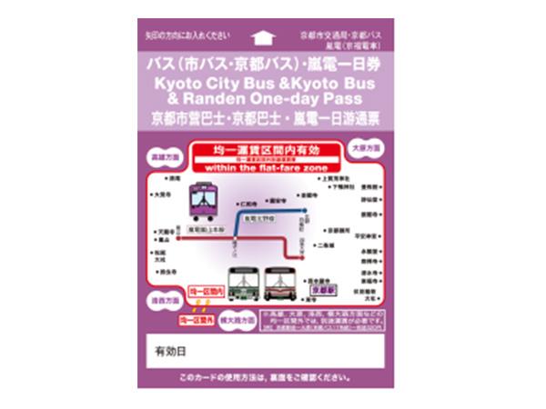 市バス・嵐電1日券
